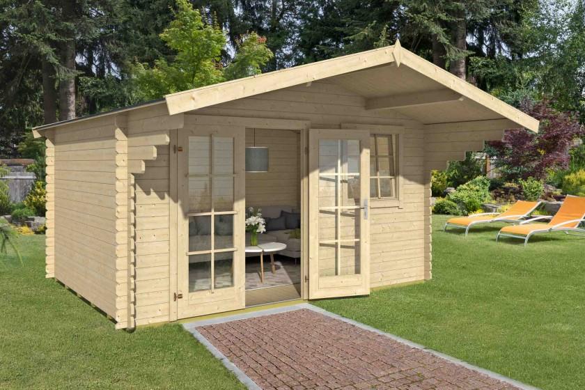 28 mm Blockhaus Orlando 28 – 380 x 280 cm – Versandkostenfreie Lieferung!