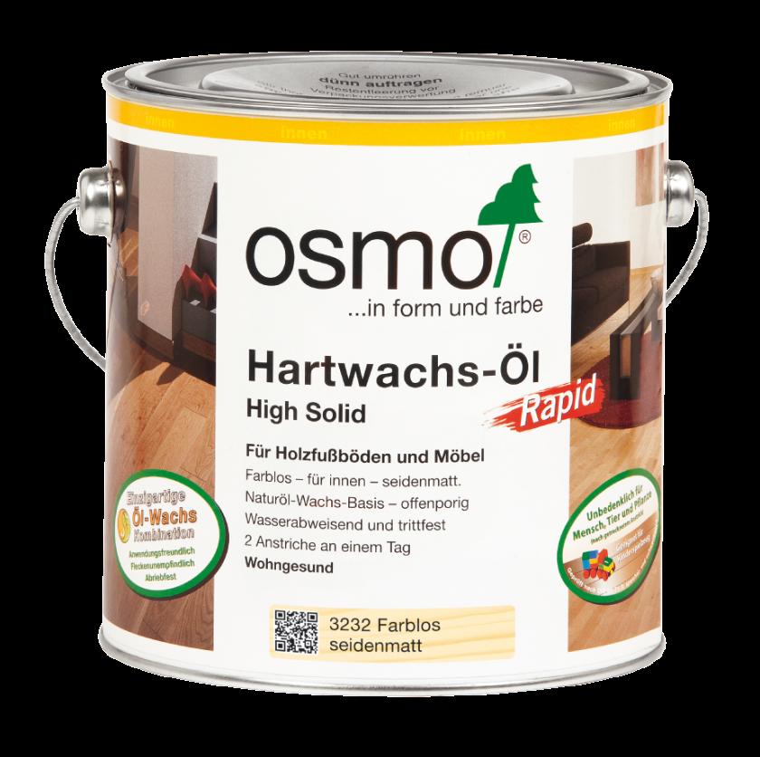Hartwachs-Öl Rapid 3232 Farblos Seidenmatt von Osmo