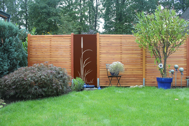 Holz-Sichtschutzelemente
