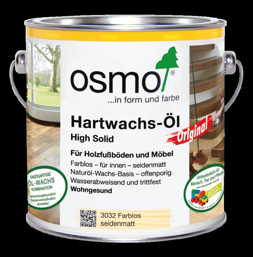 Hartwachs-Öl 3032 Farbl. Seidenmatt